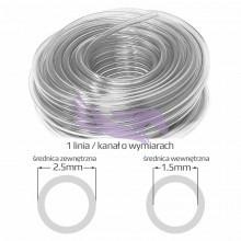 Przewód atramentowy do tuszu solwentowego 2,5mm x 1,5mm 1 linia